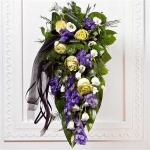 Funeral Spray with Ribbon
